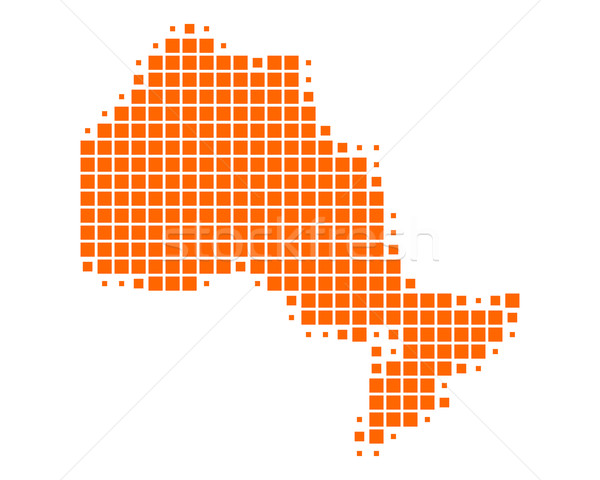 Stockfoto: Kaart · ontario · reizen · patroon · vierkante · Canada