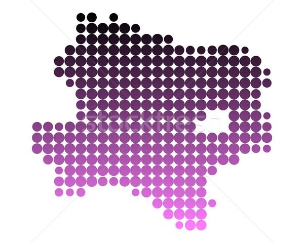 Térkép alsó Ausztria minta rózsaszín Stock fotó © rbiedermann