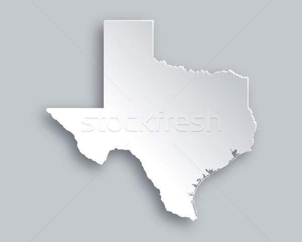 Kaart Texas papier achtergrond reizen kaart Stockfoto © rbiedermann