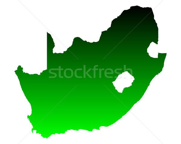 Harita Güney Afrika yeşil vektör yalıtılmış örnek Stok fotoğraf © rbiedermann