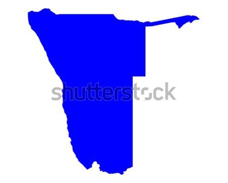 Harita Namibya mavi seyahat vektör Stok fotoğraf © rbiedermann