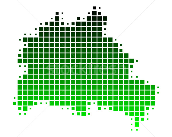 Mapa Berlín verde patrón cuadrados Alemania Foto stock © rbiedermann