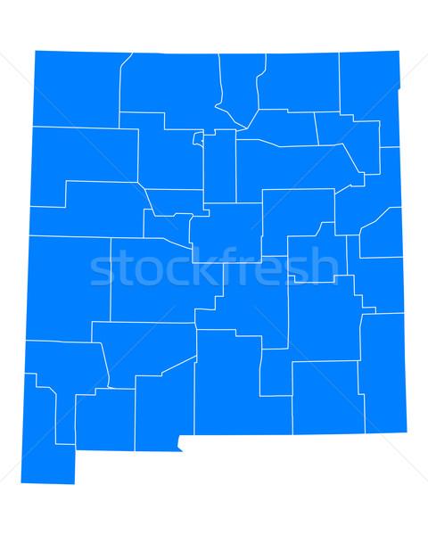 карта Нью-Мексико фон синий линия вектора Сток-фото © rbiedermann