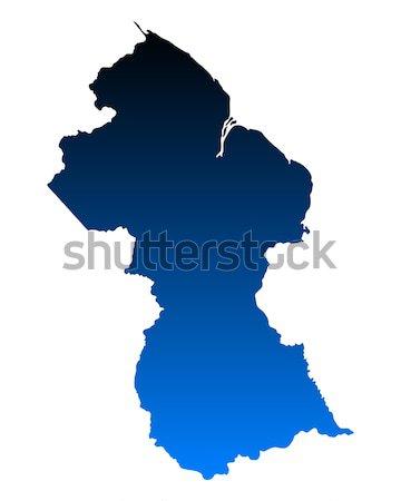 Kaart Zweden geïsoleerd illustratie Stockfoto © rbiedermann