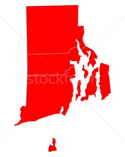 Mapa Rhode Island viajar vermelho ilha EUA Foto stock © rbiedermann