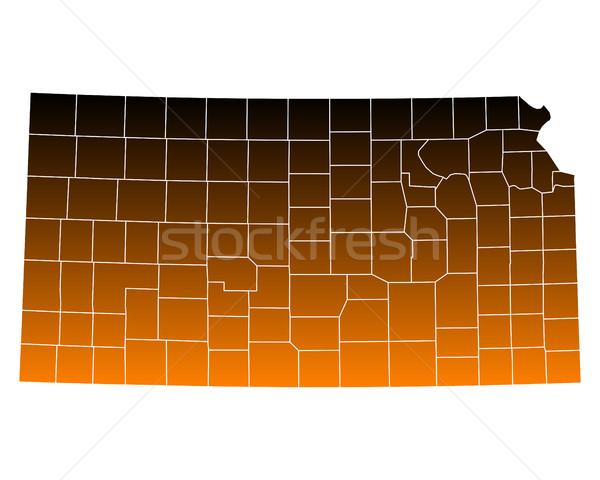 Map of Kansas Stock photo © rbiedermann
