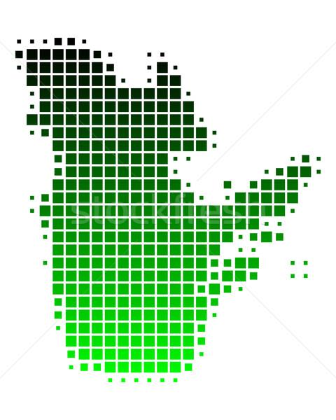 Kaart Quebec groene patroon vierkante vector Stockfoto © rbiedermann