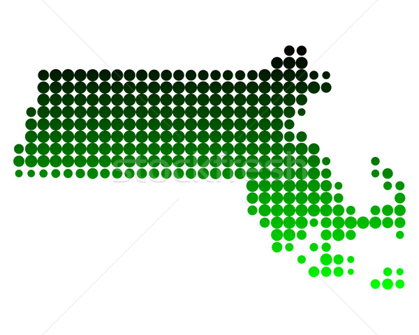 Harita Massachusetts yeşil model daire ABD Stok fotoğraf © rbiedermann
