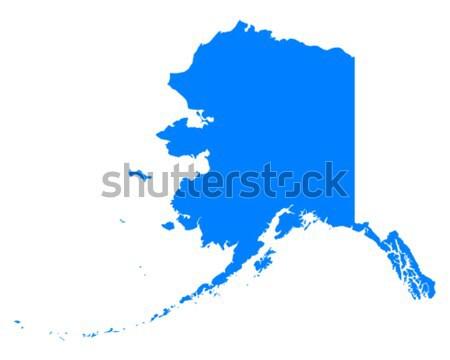 Carte Alaska bleu Voyage Amérique USA Photo stock © rbiedermann