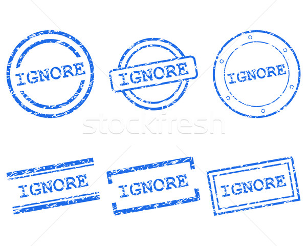 Ignore stamps Stock photo © rbiedermann