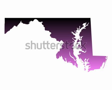 карта Мэриленд путешествия черный Америки США Сток-фото © rbiedermann