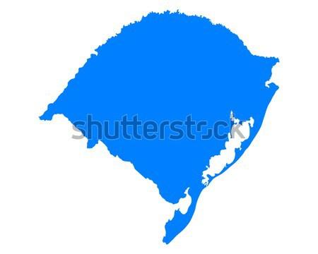 Harita rio mavi vektör yalıtılmış örnek Stok fotoğraf © rbiedermann