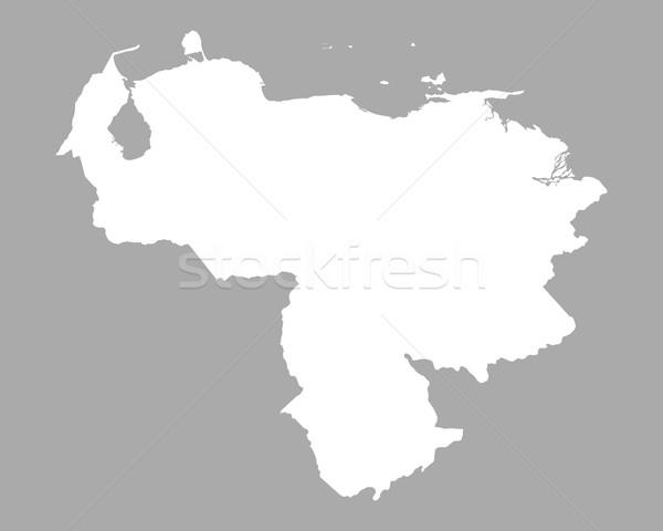 Kaart Venezuela achtergrond geïsoleerd illustratie Stockfoto © rbiedermann