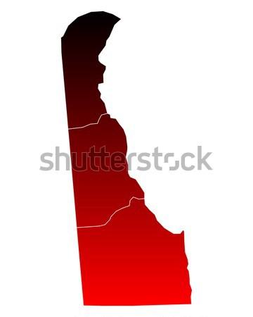 Mapa Delaware viajar vermelho EUA isolado Foto stock © rbiedermann