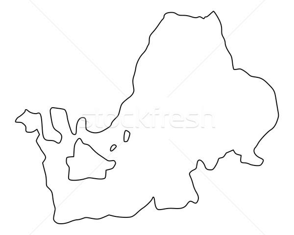 карта озеро фон изолированный иллюстрация Сток-фото © rbiedermann