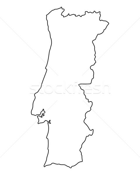 Carte Portugal fond isolé illustration Photo stock © rbiedermann
