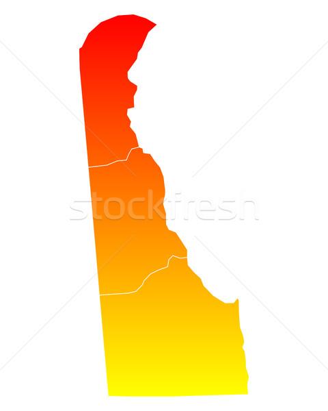 Mapa eua vetor isolado ilustração geografia Foto stock © rbiedermann