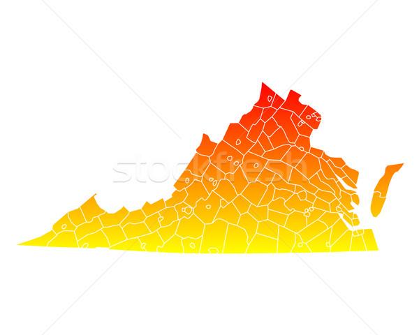 Carte usa vecteur isolé illustration géographie Photo stock © rbiedermann