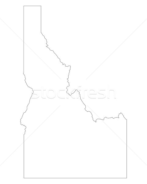 Harita Idaho arka plan hat ABD Stok fotoğraf © rbiedermann