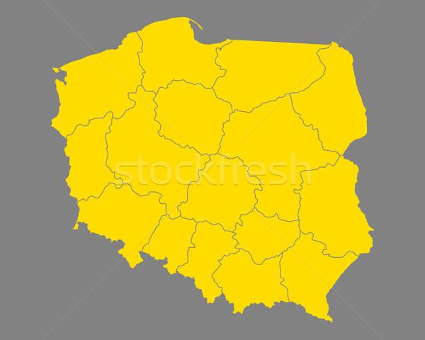 Map of Poland Stock photo © rbiedermann