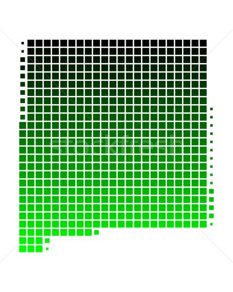 карта Нью-Мексико зеленый шаблон Америки квадратный Сток-фото © rbiedermann