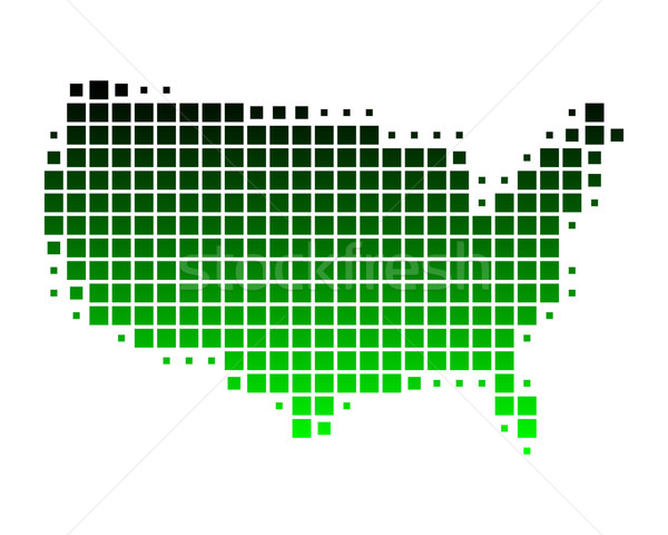 Térkép Egyesült Államok Amerika világ Föld zöld Stock fotó © rbiedermann