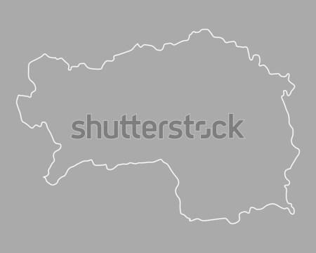 Map of Austria Stock photo © rbiedermann