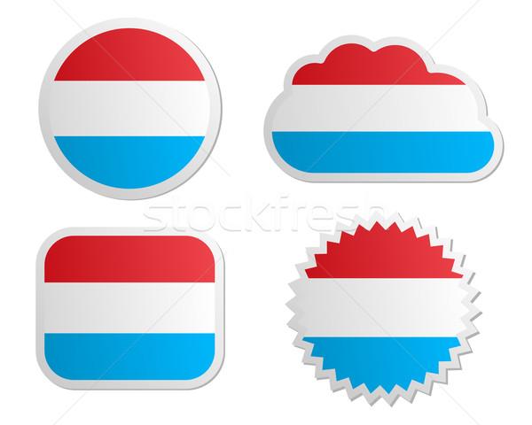 Stockfoto: Luxemburg · vlag · papier · ontwerp · teken