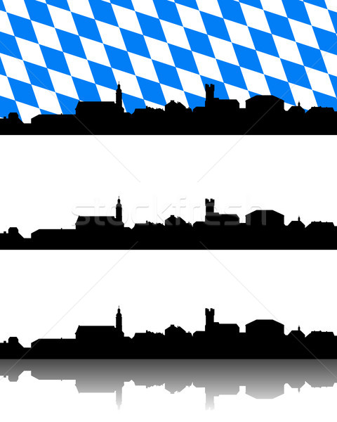 Silhouette of Furth im Wald, Bavaria Stock photo © rbiedermann
