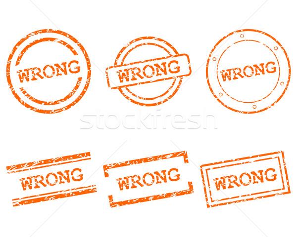 Errado selos saúde carimbo gráfico venda Foto stock © rbiedermann