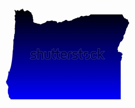 Stock photo: Map of Oregon