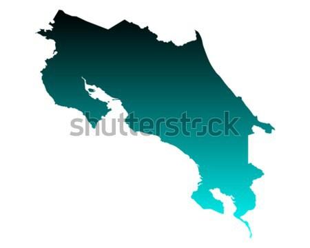 Mapa Costa Rica verde azul vector aislado Foto stock © rbiedermann