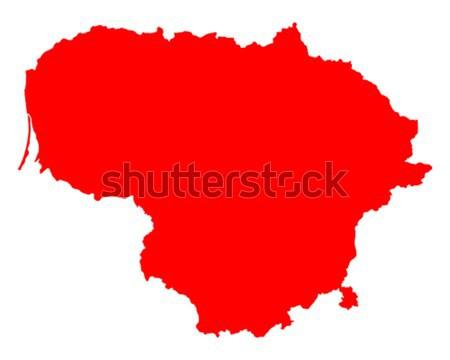 地図 リトアニア 旅行 赤 ベクトル ストックフォト © rbiedermann