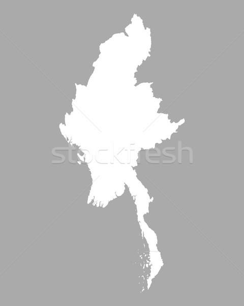 Mapa Mianmar fundo linha Foto stock © rbiedermann