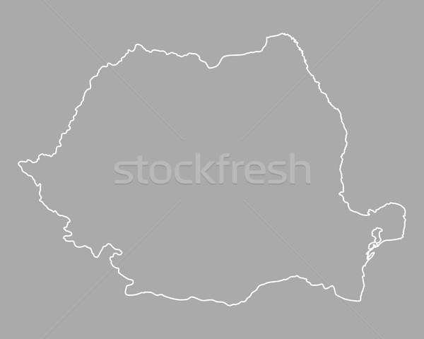 Stock fotó: Térkép · Romania · háttér · izolált · illusztráció