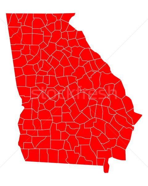 Térkép Grúzia utazás piros USA izolált Stock fotó © rbiedermann