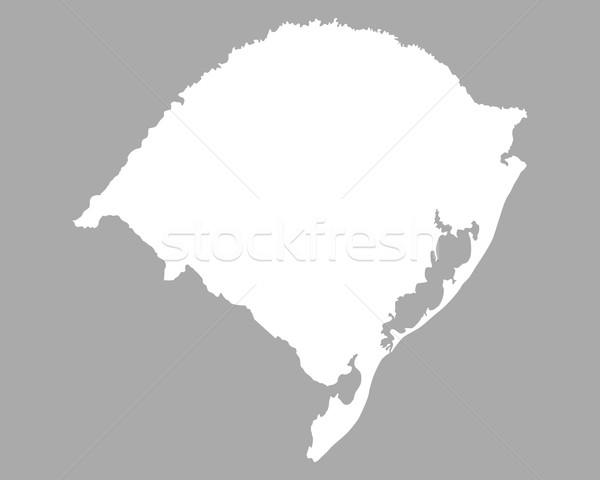 Harita rio Brezilya yalıtılmış örnek gri Stok fotoğraf © rbiedermann