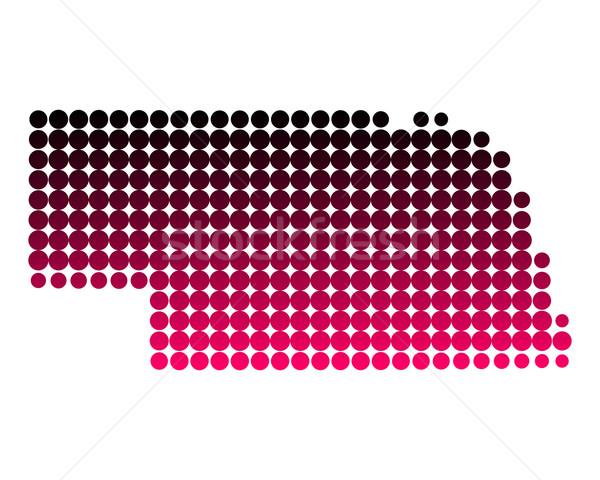 地図 ネブラスカ州 パターン ピンク アメリカ 紫色 ストックフォト © rbiedermann