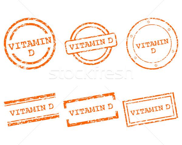 Vitamine d timbres santé tampon graphique vente Photo stock © rbiedermann