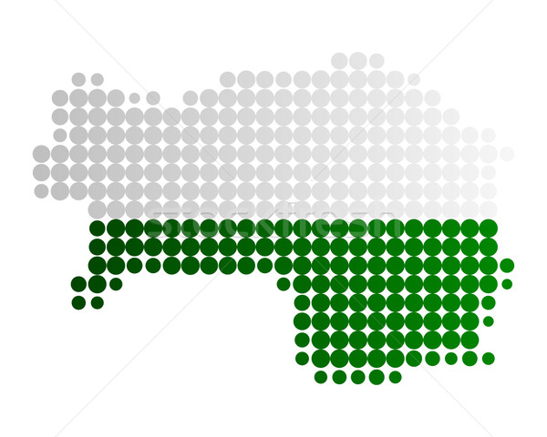 Map and flag of Styria Stock photo © rbiedermann