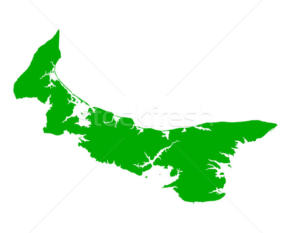 Harita prince edward adası yeşil ada vektör yalıtılmış Stok fotoğraf © rbiedermann