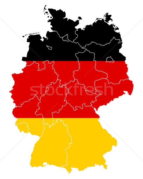 ストックフォト: 地図 · フラグ · ドイツ · 旅行 · バナー · ベルリン