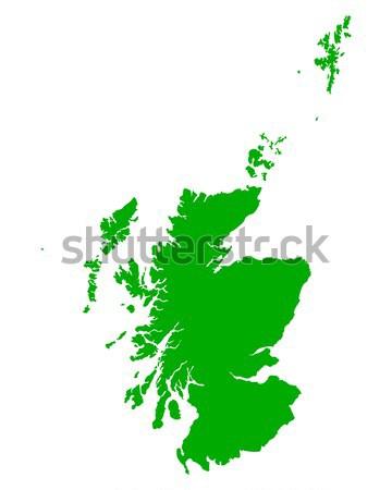 Pokaż Szkocji zielone podróży wektora Zdjęcia stock © rbiedermann