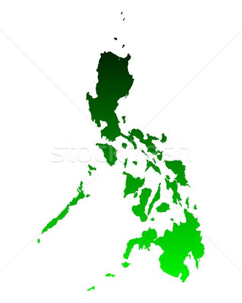 地図 フィリピン 背景 緑 旅行 行 ストックフォト © rbiedermann