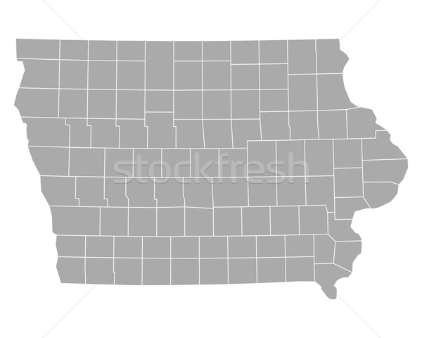 Térkép Iowa háttér vonal vektor illusztráció Stock fotó © rbiedermann