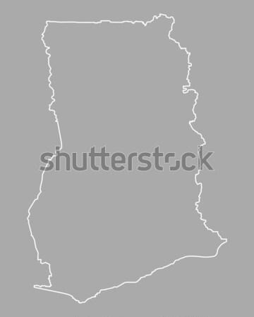 Map of Ghana Stock photo © rbiedermann