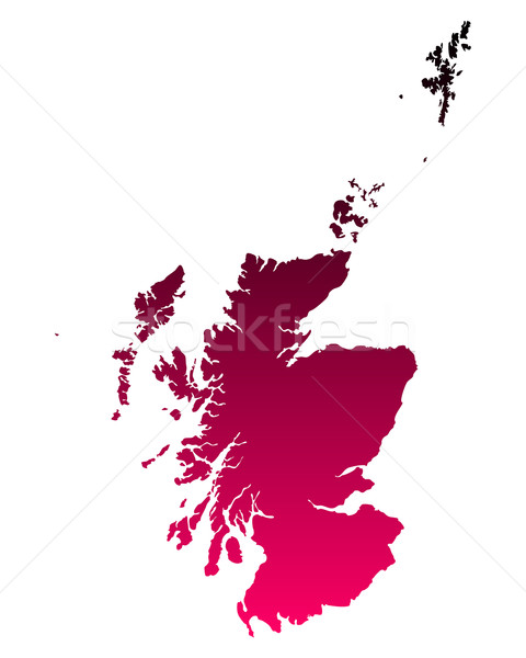 Map of Scotland Stock photo © rbiedermann