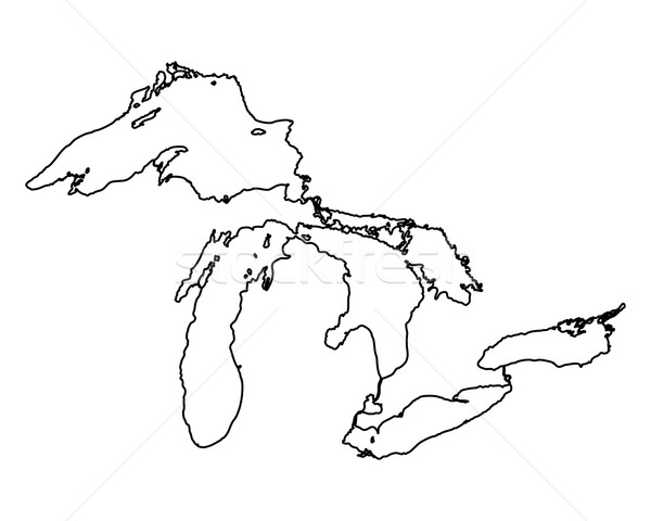 Mappa blu viaggio bianco america Foto d'archivio © rbiedermann