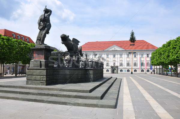 Lindwurmbrunnen (Lindworm Fountain) in Klagenfurt, Austria Stock photo © rbiedermann