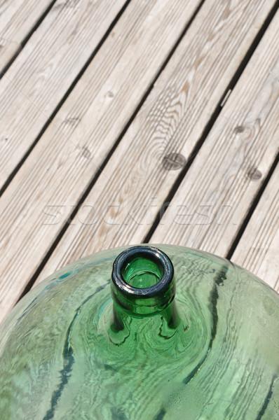 Madeira balão videira vaso madeira Foto stock © rbiedermann